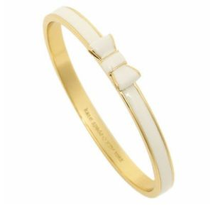 Kate Spade Take a Bow Bangle in Natural and Gold